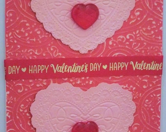 Two Hearts Valentine Card