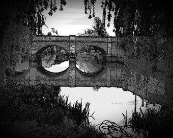 The Red Bridge at Cambell Town - Moody Reflections