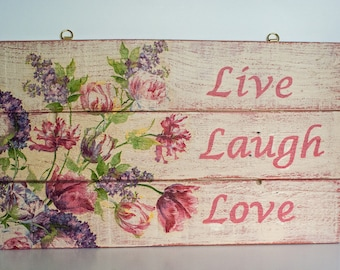 Pallet Art, Wall Hanging, Shabby Chic, Wall Plaque, Rustic Wood, Picture