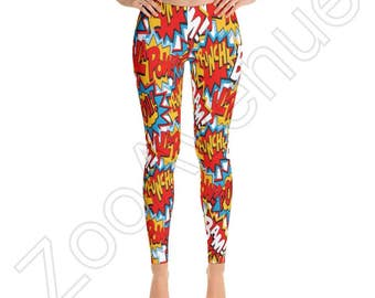 Comic leggings – Etsy