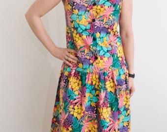 Vintage 90's Floral Summer Dress