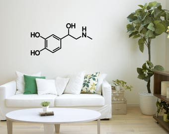 Adrenaline Molecule, Wall Decal, Wall Art, Wall Mural, Wall Decoration, Wall Picture, Home Decoration, Illustration, 72