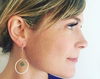 Dangle earrings, Gold earrings, Raw stone earrings, Boho earrings, Minimalist earrings, Bridesmaid earrings, Gold earrings, Delicate earring