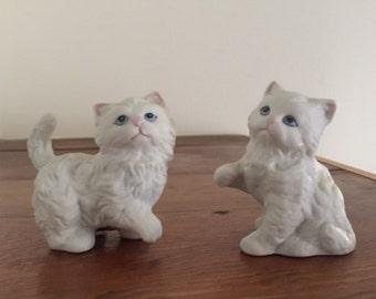 Homco Playful Kitten Figurines