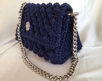 Handmade 100% Italian yarn # elegant made # fancy bag # lovely bag # evening bag # everyday bag # chic bag # designer bag # crochet bag