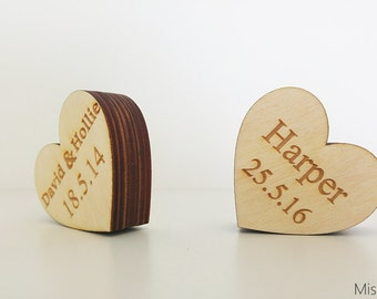 Wooden heart with your own engraving