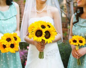 Sunflower brides bouquet