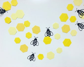 Bee and honey comb garland