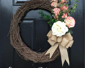 Convertible Wreath Attachments: Pinks and Greens