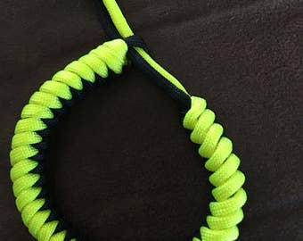 550 paracord bracelet in neon yellow and black