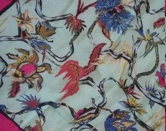 Rosabotanica silk scarf in Fuschia pink!
