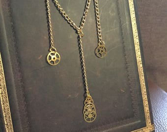 Steampunk Golden Necklace