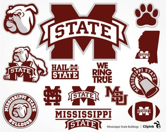 Mississippi State Bulldogs svg, Mississippi svg, MSU Bulldogs clipart svg digital – svg, eps, png, dxf, pdf. Decor Cut Print Mug Shirt Decal