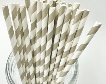 Light Grey Paper Straw Pack