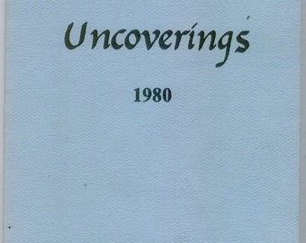 Uncoverings 1980 from AQSG : original 1981 printing (not a reprint)
