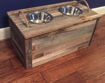 Dog Feeding Station With Storage