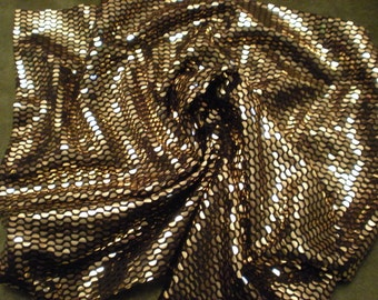 Black fabric with gold sequins