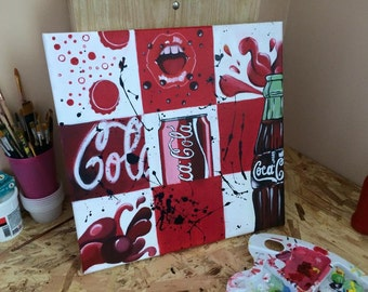Coca Cola Tribute acrylic painting on canvas fusion cocacola