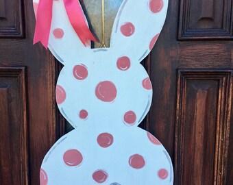 Bunny door hanger, Easter, Spring, door decor, bunny, southern, gift, porch