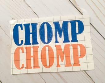 Chomp Chomp Decal