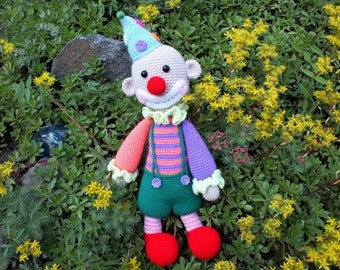 "The knitted toy ""Happy clown"""