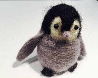 Needle Felted Baby Penquin