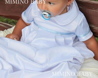 MARK Baptism gown, boys Christening gown, Boy Baptism outfit, Christening outfit, Baby boy Baptism outfit, Cherry Blossom, boy baby shower