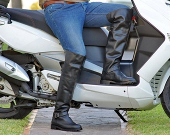 Tall men boots biker pirate style Runnerbull made in Italy