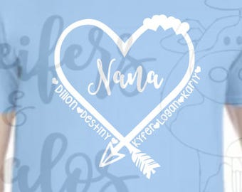 Customized Mother's Day SVG - T-shirt, yeti cups, decals, great Mother and Grandmother gift!