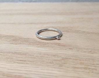 Sterling Silver Ring No. 8 - Geometric - Modern - Handmade