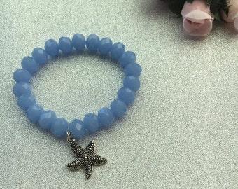 Gorgeous Blue Crystal Beaded Bracelet