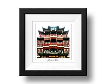 Shanghai Historic building photograph, Shanghai Print, Square Wall Art