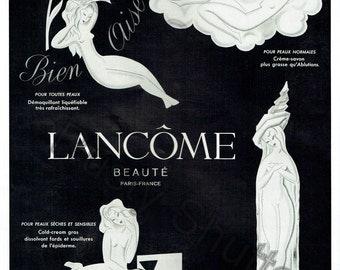 Vintage French Advertising.  Lancome Beauté Paris France Parfum.  300 dpi.  High Resolution jpg.  Instant Download   A4 & A3 sizes.