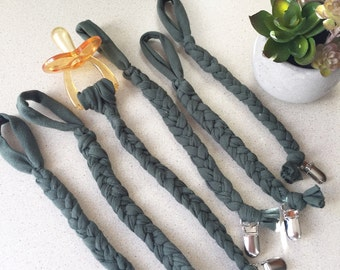 Olive Green Braided Clip