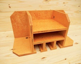 Engraved Tool Storage Organizer (Wall mounted) - Maple