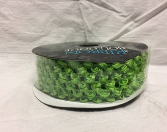 Ribbon Boutique Luscious Lime Green Elastic Crochet Headband Ribbon, Ribbon by the Roll, Waffle Ribbon 2 Yards x 1.5 Inches, Headband Ribbon