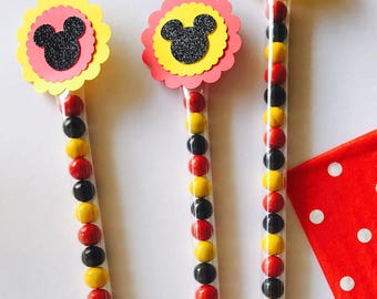 Mickey Mouse Favor, Mickey Mouse Candy Wand, Party Favors