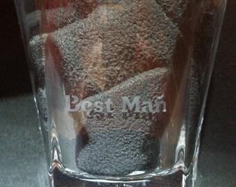Custom Best Man Whiskey Glass Gift/Groomsmen Gift