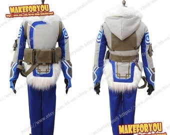Women Over OW Mei Ling Zhou Cosplay Costume thick jacket