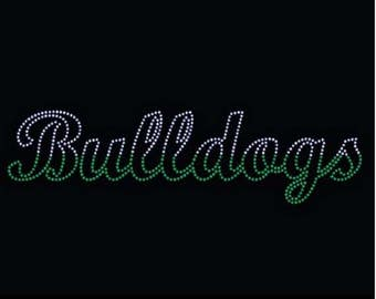 Rhinestone Bulldogs  Lightweight T-Shirt or DIY Iron On Transfer           SR2Q