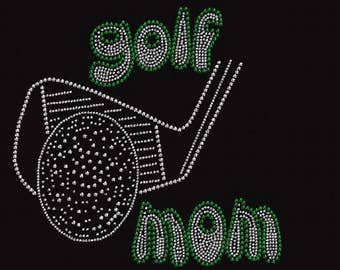 Rhinestone Golf Mom Lightweight T-Shirt  Iron On Transfer                     3XBA