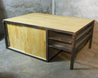 "Table low mini bar ""Cellar"", sliding doors"