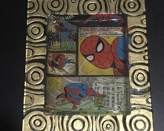 Spider Man Comic Glass Serving Tray