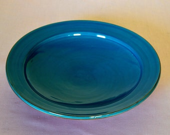 Contemporary Moroccan ceramic bowl in turquoise
