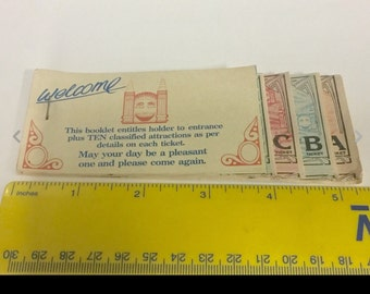 Luna Park Sydney (rare) ticket book for 10 rides