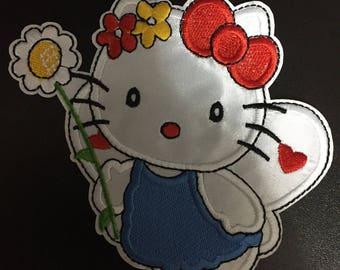 Hello Kitty, Hello Kitty Iron on Patches, 12x11cm size