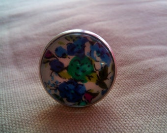 #BR blue flower ring 2
