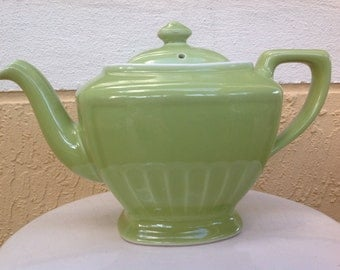 "Vintage Hall Green ""Hollywood"" Style Teapot"