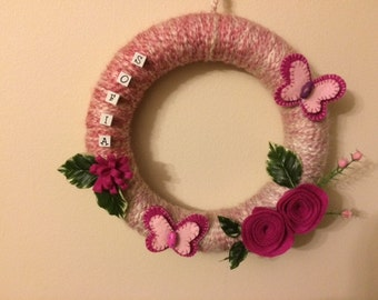 Butterfly Wreath Decoration
