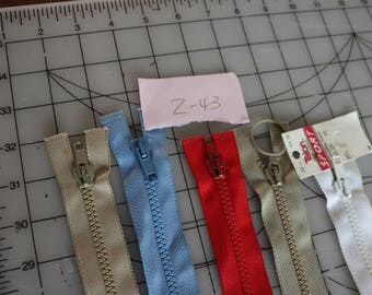 29 Z-43 Talon vintage sport zippers one with tag,